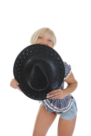 Young beauti cowgirl. Stock Photo - 8182101