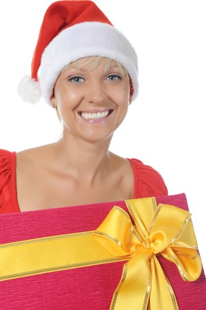 Beautiful christmas woman. photo