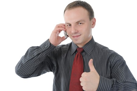 Businessman talking on the phone Stock Photo - 8182203