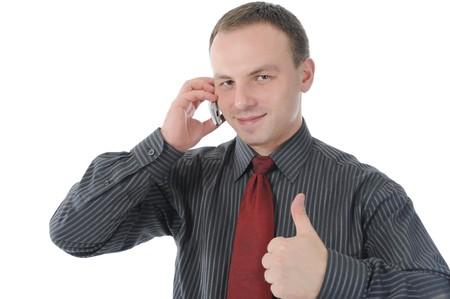 Businessman talking on the phone Stock Photo - 8182203