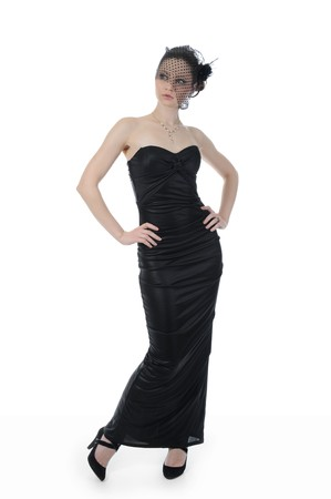 woman in evening gown photo