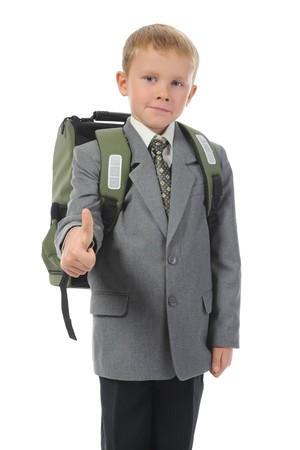 boy with a briefcase photo