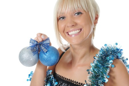 Christmas blonde photo