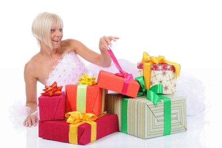 Bride with gifts Stock Photo - 8182260