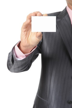 man handing a blank Stock Photo - 8182244