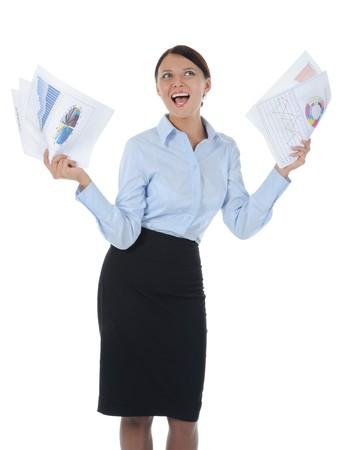 businesswoman holding documents Stock Photo - 8182241