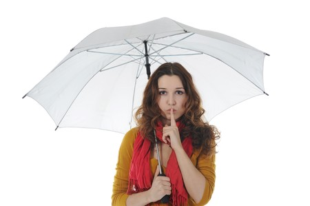 Image of a businessman with umbrella Stock Photo - 8182258