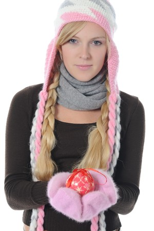 woman in winter style Stock Photo - 8259816