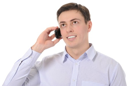 Businessman talking on the phone Stock Photo - 8259818