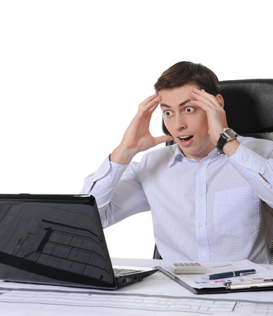 deprivation: Frustrated businessman Stock Photo