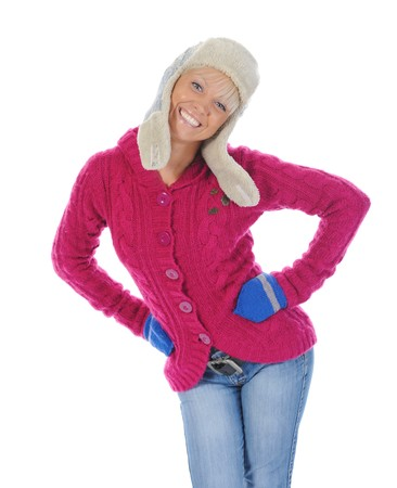 woman in winter style Stock Photo - 8259871
