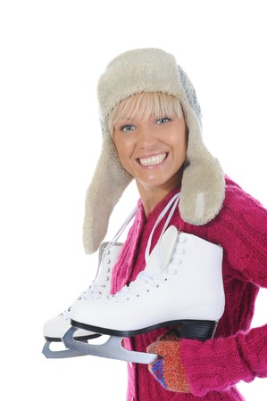 Girl with skates Stock Photo - 8259878