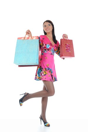 Beautiful girl with shopping bags Stock Photo - 8259812