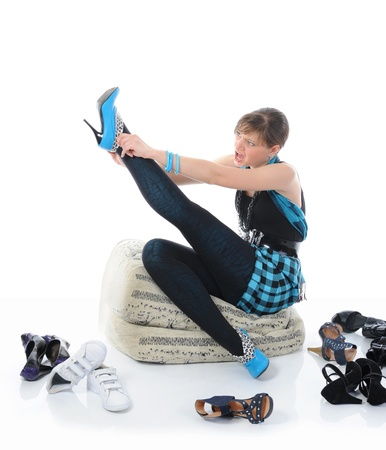 woman choosing shoes at a store Stock Photo - 8260149