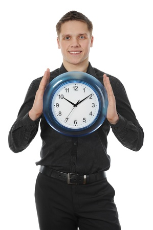 man holds hours Stock Photo - 8260216