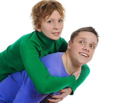 portrait of a joyful young couple Stock Photo - 8260223