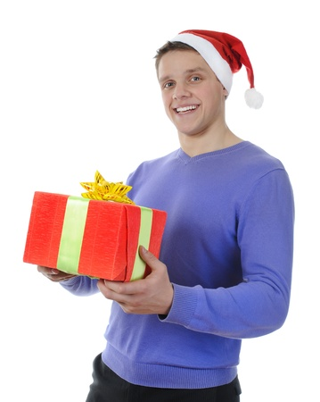 man holding present Stock Photo - 8260206