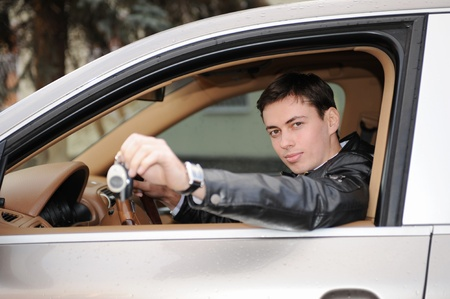 man showing the keys photo