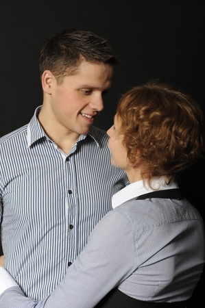 portrait of a joyful young couple man and woman Stock Photo - 8355598