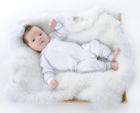 baby sleeps with a pacifier in her mouth Stock Photo - 8734513