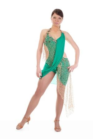Young woman at dancing pose. photo