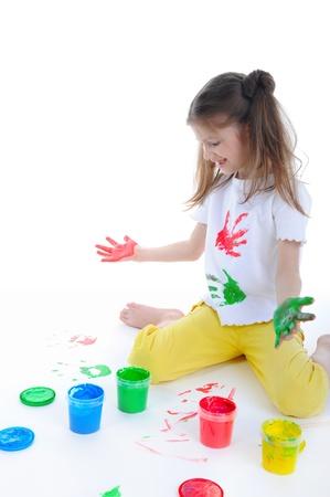 little girl draws Stock Photo - 8734595
