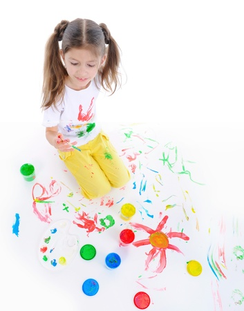 little girl draws Stock Photo - 8734594