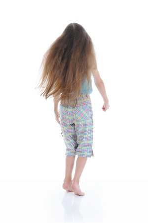 Little girl with long hair photo