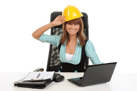 Joyful businesswoman Stock Photo - 8734592