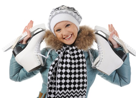 Girl with skates Stock Photo - 8734640