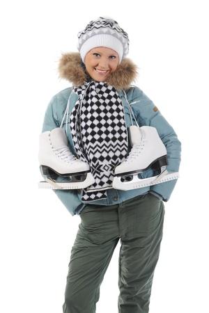 Girl with skates photo