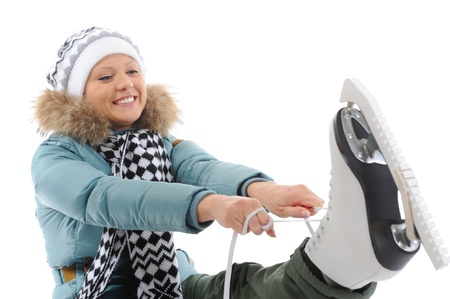 patinaje: Ni�a con patines
