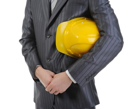 Businessman with construction helmet Stock Photo - 8734625