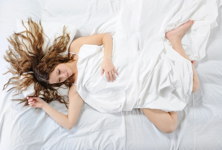 woman sleeping on the bed Stock Photo - 8734636