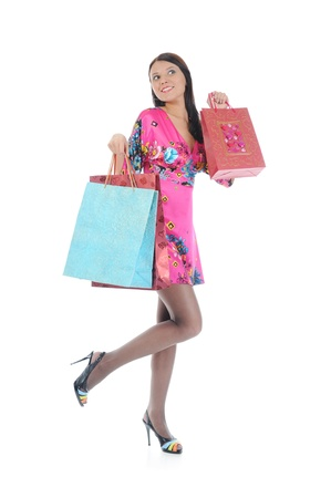 Beautiful girl with shopping bags Stock Photo - 8734572
