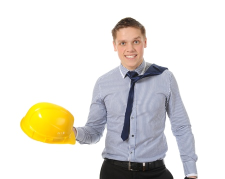man with construction helmet Stock Photo - 8734593