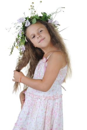 girl with a wreath photo