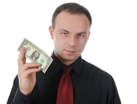dollar bill into a shirt pocket Stock Photo - 8734665