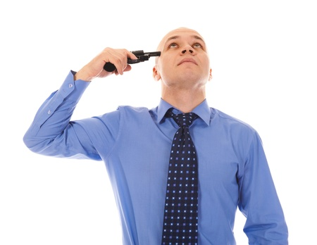 man trying to suicide Stock Photo - 8735005