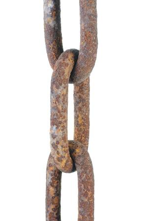 Large rusty chain. Stock Photo - 8735003