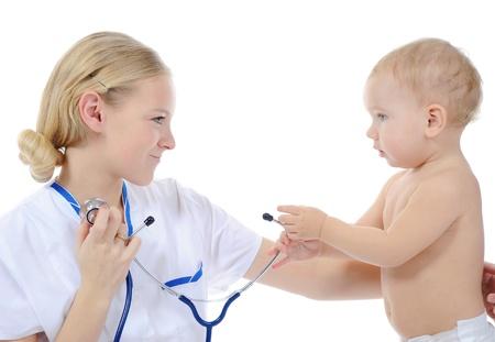 Baby und Arzt Lizenzfreie Bilder - 8735266