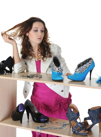 woman choosing shoes at a store Stock Photo - 8735318
