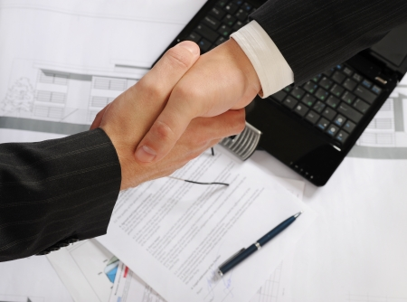 contract signing: Handshake