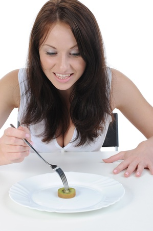 Beautiful girl on a diet. Stock Photo - 8880614