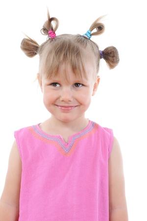 Funny girl in pink. Stock Photo - 8880713