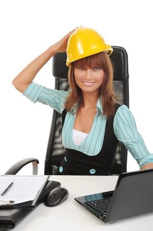 Joyful businesswoman Stock Photo - 8880715