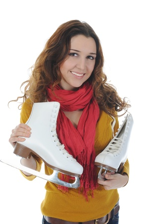 Girl with skates Stock Photo - 8880724