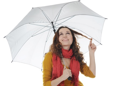 Image of a businessman with umbrella Stock Photo - 8880725