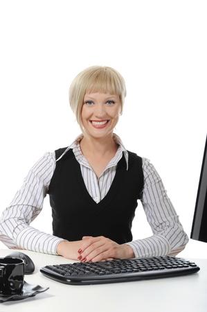 Beautiful office worker. photo