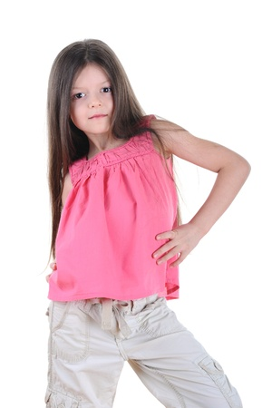 Little girl posing photo